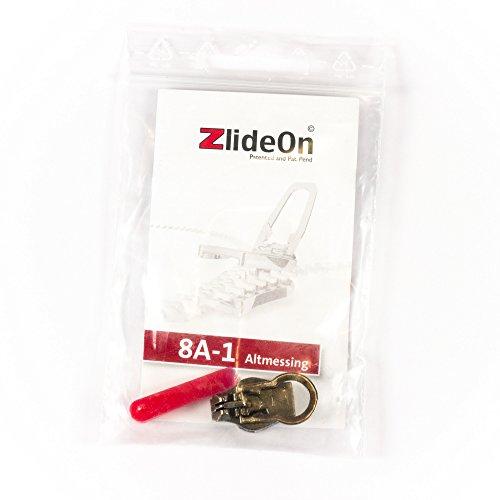 ZlideOn 8A-1, altmessing, mit Öffnungshilfe